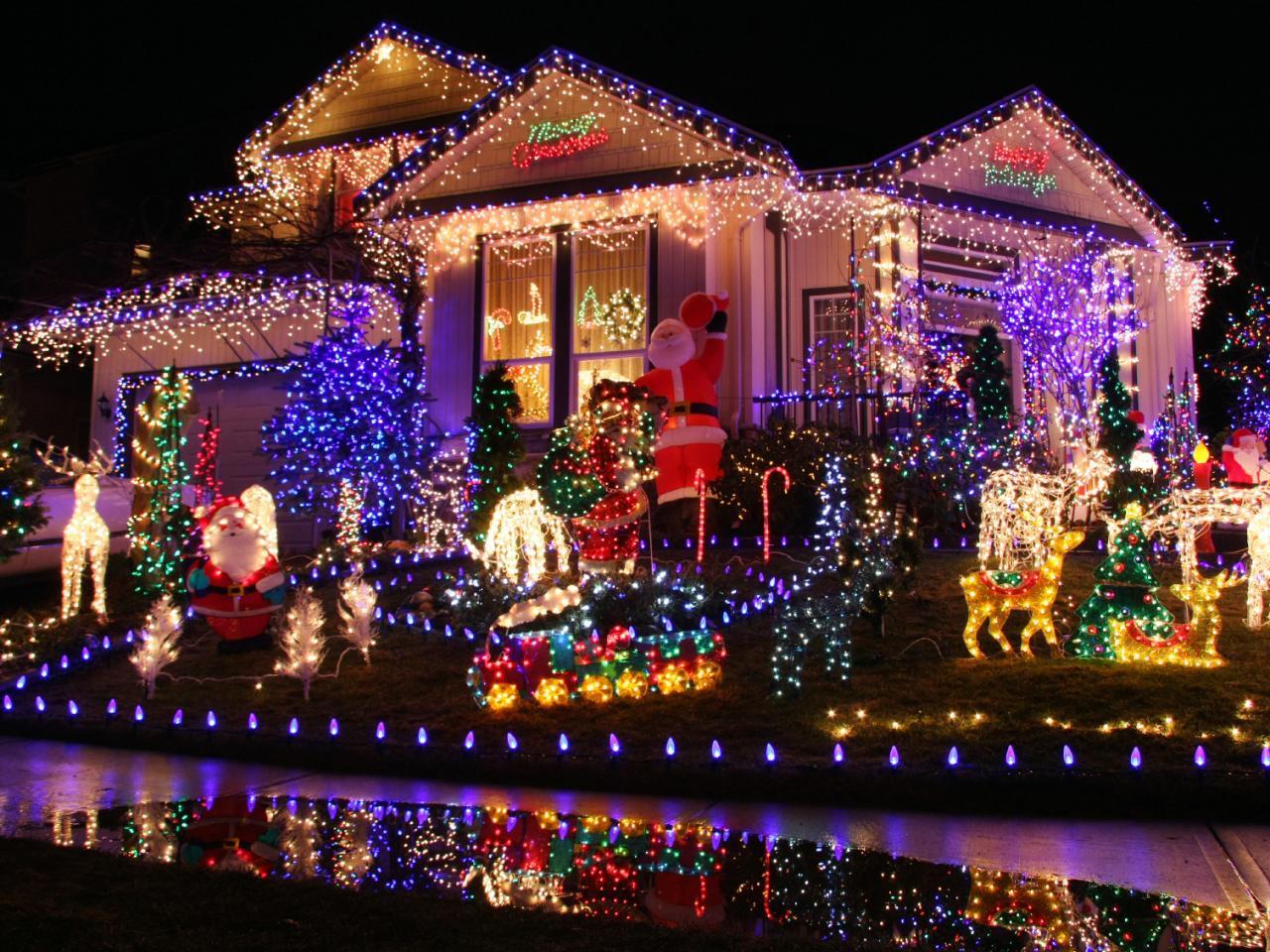 новогодний светодиодный декор дома