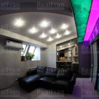 матовый потолок с звездной подсветкой