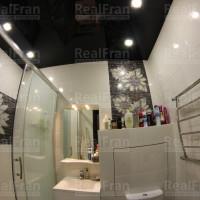 ванная потолок черный глянец