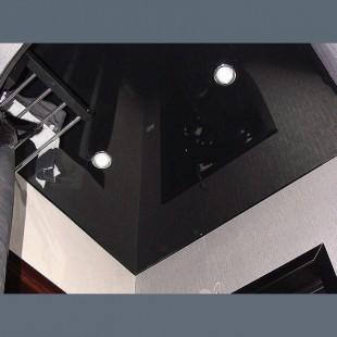 Глянцевый потолок чёрный  - 1 м.2