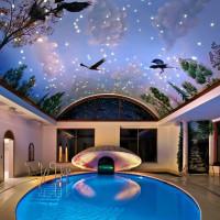 индивидуальный 3D натяжной потолок сказка