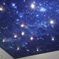 Звездное небо фотопечать со светильниками