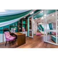 Сатиновый натяжной потолок для проекта Школа Ремонта - Сорок метров сказки