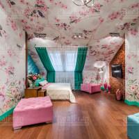 сатиновый натяжной потолок с эксклюзивной подсветкой