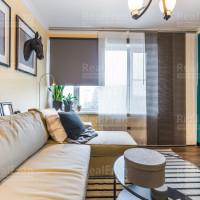 сатин в гостиную натяжной потолок с люстрой