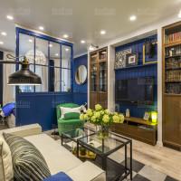 дизайнерский матовый потолок с точечной подсветкой