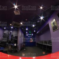Натяжной потолок фотопечать Звёздное небо с точечными светильниками Lightstar