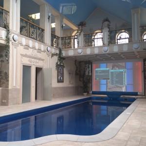 Ремонт потолка д. Шахматово дом с басейном