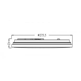 Управляемый светодиодный светильник SIYANIE PRIME 24W R-275-ON/OFF-CRYSTAL-220-IP44