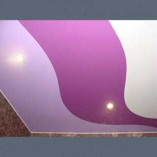 Глянцевый цветной потолок со спайкой в детскую 1м2