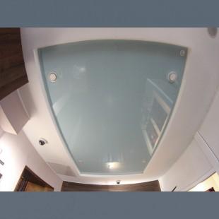 Глянцевый потолок гипсокартон с натяжным 1м2