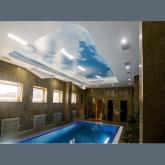 """Глянцевый натяжной потолок с фотопечатью """"Небеса"""" в бассейн 1м2"""