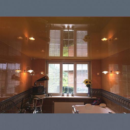 Глянцевый потолок в ванную  - 1 м.2