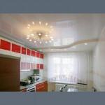 Глянцевый потолок на кухню -  1 м.2