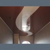 Потолок натяжной с криволинейной спайкой и с работой 1м2