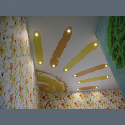 Матовый потолок в детскую с фотопечатью  - 1 м.2
