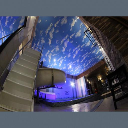 Натяжной потолок в бассейн облака MSD002 - 1 м.2