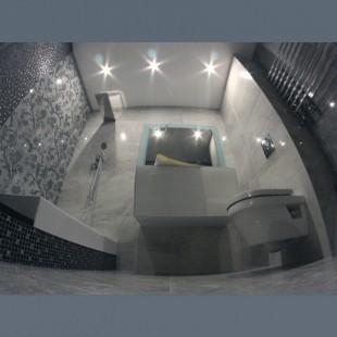 Натяжные потолки матовые в ванную комнату с установкой 1м2
