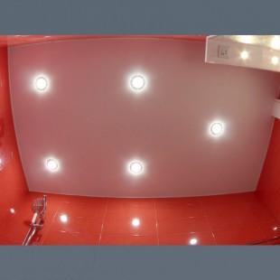 Потолок натяжной матовый в туалет без установки 1м2