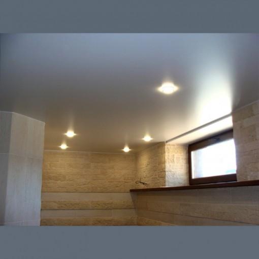 Сатиновый натяжной потолок в ванную  - 1 м.2
