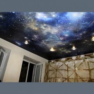 Потолок звёздное небо фотопечать 1м2