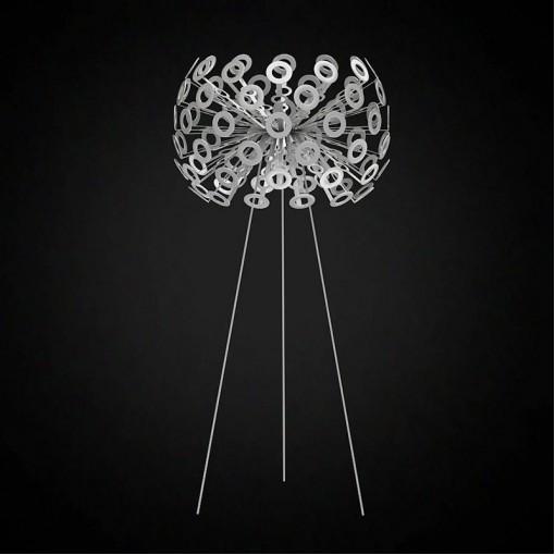 1296 Светильник напольный Pusteblume F SL, E27, 1х100 Вт, 130х50, серебро, хром. мет.