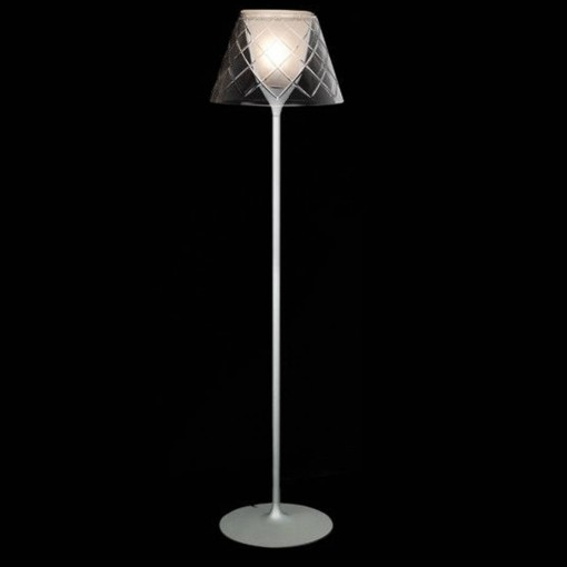 1303 Светильник напольный Netz F, E27, 1х100 Вт, 130х33,5, прозрачный, серебристо-серый мет.