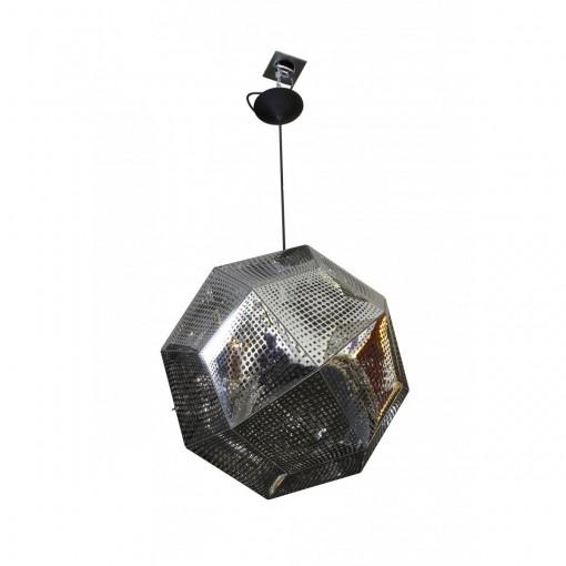 1017 Светильник подвесной Kristall C2 SL, Е27, 1х100 Вт, 150х48, серебро