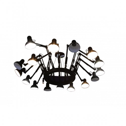 1168 Светильник подвесной Spinne C2 BK, E27, 16х60 Вт, 200х230, черный