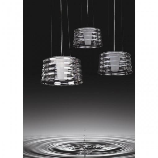 1305 Светильник подвесной Zittern C, E27, 1х100 Вт, 200 (макс)х35, прозрачный, хром. мет.