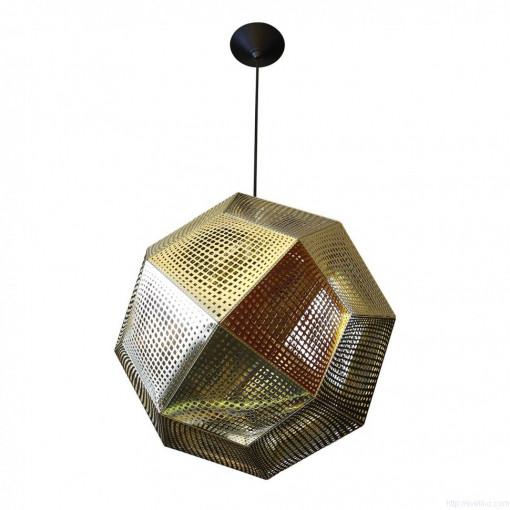 1018 Светильник подвесной Kristall C1 GD, Е27, 1х60 Вт, 150х32, золото
