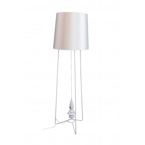1021 Светильник напольный Krone F, E27, 1х100 Вт, 163х47, белый