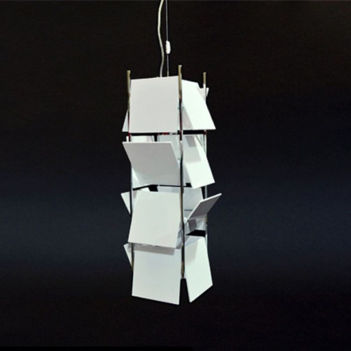 1056 Светильник подвесной Matrix C1 WH, Е27, 1х, 120х15х15, белый