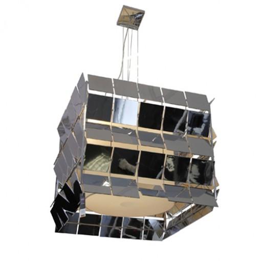 1058 Светильник подвесной Matrix C2 SL, Е27, 3x, 150х69х69, серебро