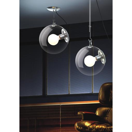 1083 Светильник подвесной Feuerball C2, Е27, 1х60 Вт, 105-155х30, прозрачный, хром