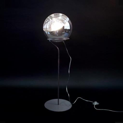 1094 Светильник напольный Raumschiff F2, E27, 1х60 Вт, 130х30, прозрачный, хром