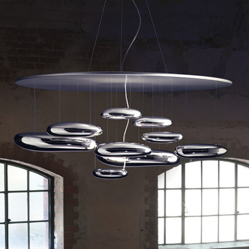 1140 Светильник подвесной Flaute C2, R7S, 2х150 Вт, 200 (макс)х110, хром, серебристо-серый мет.