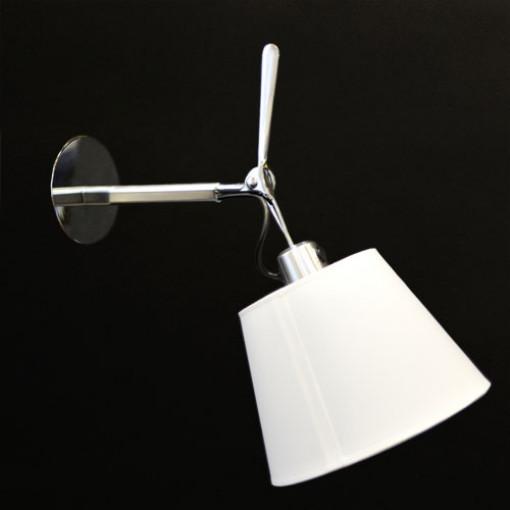 1165 Светильник настенный Kranich W1, E27, 1х60 Вт, 27,8х18х32,6, белый, серебристый мет.