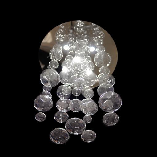 1187 Светильник подвесной Tropfen C3, GU10, 8х60 Вт, 86х100, прозрачный, серебристый металл