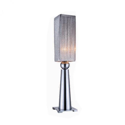 1244 Светильник настольный Helle T1 SL, E27, 1х60 Вт, 58х16х16, серебро