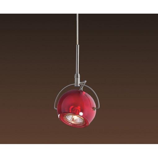 1272 Светильник подвесной Zuffe C PK, GU10, 1х75 Вт, 75-128х9,2, розовый