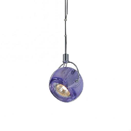 1273 Светильник подвесной Zuffe C VT, GU10, 1х75 Вт, 75-128х9,2, фиолетовый