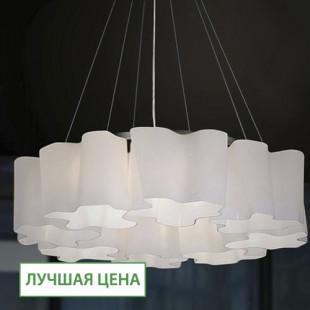 1308 Светильник подвесной Woge C WH, E27, 8х60 Вт, 200 (макс)х74, белый