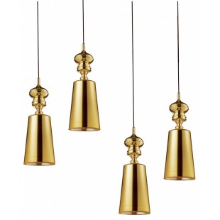 1252 Светильник подвесной Duke C1 GD, Е27, 1х60 Вт, 200 (макс)х18, золото