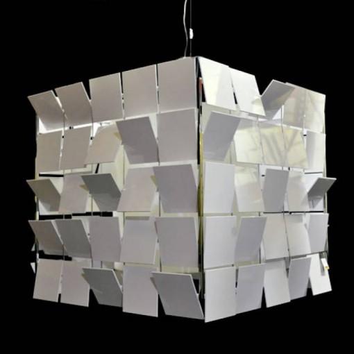 1057 Светильник подвесной Matrix C2 WH, Е27, 3x, 150х69х69, белый