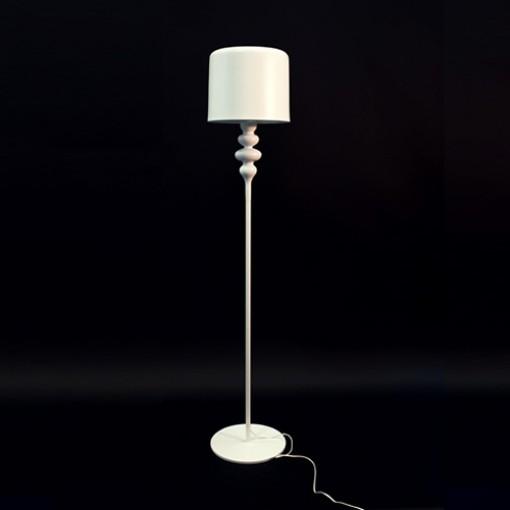 1026 Светильник напольный Eleganz F1, E27, 1х100 Вт, 165х30, белый