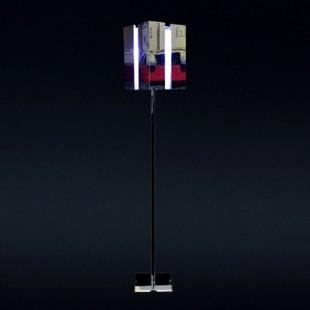 1072 Светильник напольный Raum F, E27, 1х, 165,5х25х25, серебро