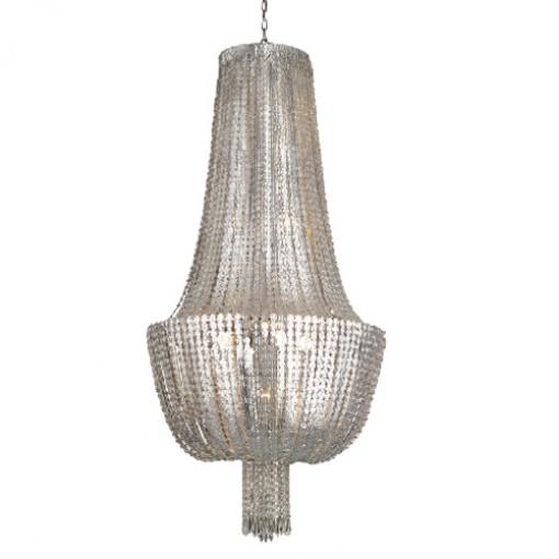 1232 Светильник подвесной Geflecht C2 SL, E14, E27, 8х40 Вт, 1х60 Вт, 200 (макс)х70, серебро