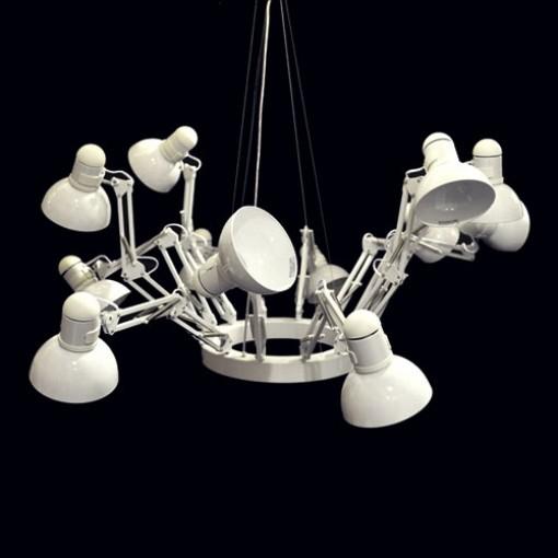 1169 Светильник подвесной Spinne C1 WH, E27, 12х60 Вт, 200х158, белый