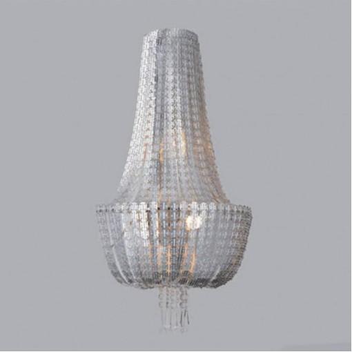 1233 Светильник настенный Geflecht W SL, E14, 2х40 Вт, 60х20х40, серебро
